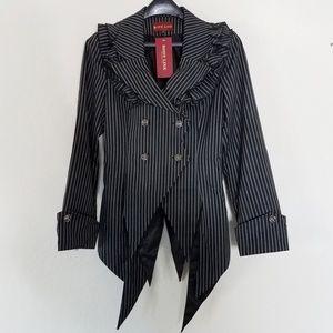 NWT Grey Pinstripe Blazer Jacket Visual Kei Jrock